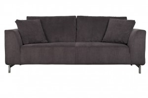 SOFA DRAGON 3-SEATER RIB SZARA